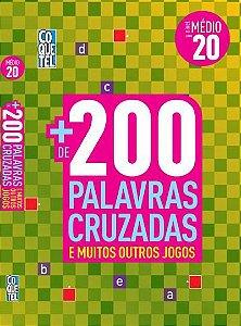 LIVRO + 200 PALAVRAS CRUZADAS- VOL. 20