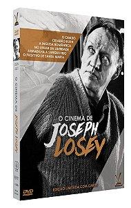 O CINEMA DE JOSEPH LOSEY  EDIÇÃO LIMITADA COM 6 CARDs  (Caixa com 03 DVDs)