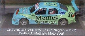 COLECIONÁVEL CHEVROLET VECTRA - GUTO NEGRÃO - 2003 MEDLEY A. MATTHEIS MOTOSPORT ed 59