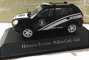 COLECIONÁVEL HYUNDAI TUCSON - POLICIA CIVIL - GO  VEICULOS DE SERVIÇO  ED 46