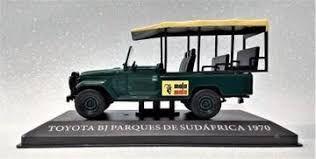 Miniatura colecionável toyota bj parques de sudaafrica 1970 coleção de carros argentinos com fascículos