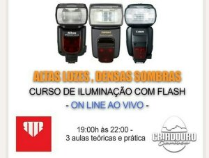 Curso ONLINE EXCLUSIVO - Flash: Altas Luzes, Densas Sombras (Online NOITE e Prática )