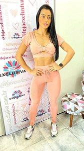 Conjunto Princess Empina Bumbum Rosé