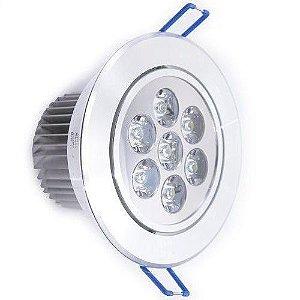 Lampada Spot 7w Led Aluminio Para Teto Sanca Gesso