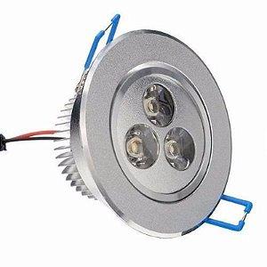 Lampada Spot 3w Led Aluminio Para Teto Sanca Gesso