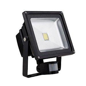 Refletor Holofote 30w Led Bivolt Com Sensor de Presença Movimento