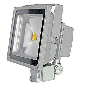 Refletor Holofote 50w Led Bivolt Com Sensor de Presença Movimento