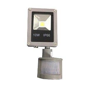 Refletor Holofote Led 10w Bivolt Sensor Presença Movimento