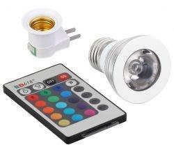 Lampada LED RGB 16 Cores E27 Bivolt