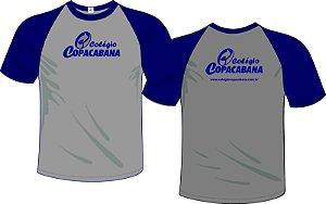 Camiseta Cinza c/ Azul - Turno da Manhã