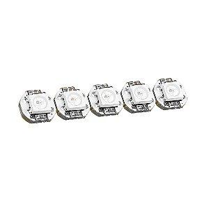 LED RGB Endereçável WS2812B 5050 (5 unidades)