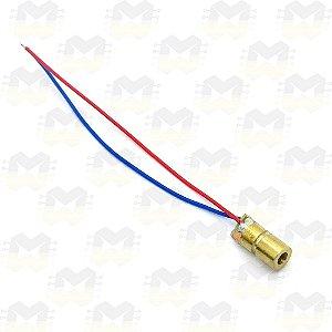 Laser LED Vermelho 6mm 650nm de Alta Potência