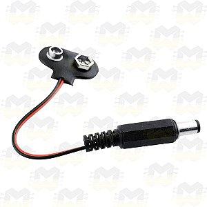 Clip Conector de Bateria 9V com Plug P4