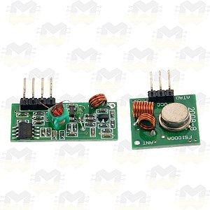 Módulo Wireless RF 433MHz (Transmissor e Receptor)