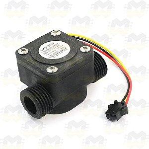 """Sensor de Fluxo / Vazão de Água (Rosca de 1/2"""") - SEN-HZ21WA"""