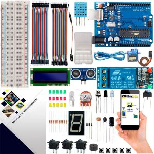 Kit Intermediário Maker com Brinde e Manual para Arduino Uno R3