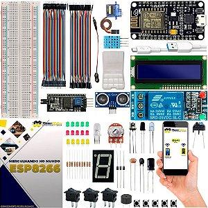 Kit NodeMCU ESP8266 WiFi Básico Iniciante com Brinde e Manual