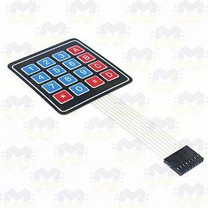 Teclado Matricial de Membrana 4X4 com 16 teclas