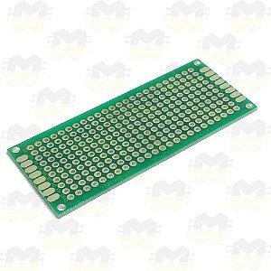 Placa de Circuito Impresso Ilhada 3X7 (240 furos)