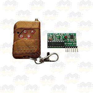 KIT Controle Remoto (Transmissor RF) e Receptor RF 433MHz