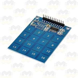 Teclado Capacitivo Touch (Toque) TTP229 com 16 Teclas