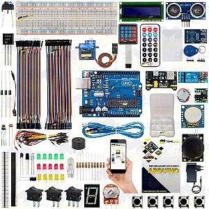 Kit Arduino Uno R3 Básico Iniciante Completo Automação + Manual 2019 + Sensor Brinde