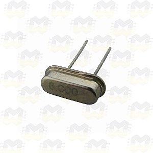 Cristal Oscilador 8MHz Meia Caneca HC49S