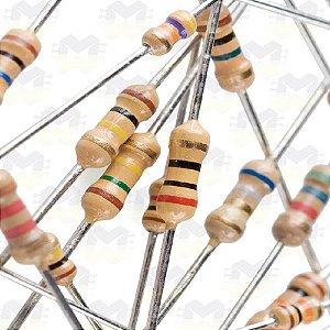 Resistor de 1R CR25 5% 1/4W - (10 unidades)