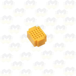 Mini Protoboard Amarela de 25 Pontos (Lego)