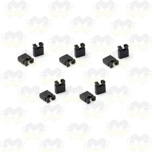 Mini Micro Jumper 2.54mm - Preto - (10 unidades)