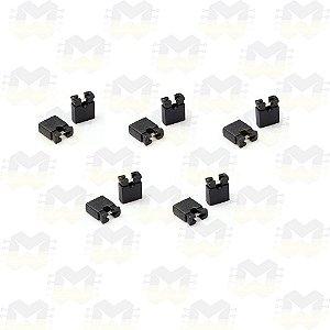 Mini Micro Jumper 2.54mm - Preto - (10 unidades)