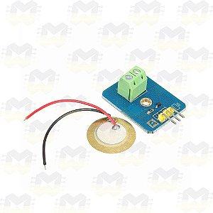 Módulo Piezoelétrico Sensor de Vibração e Toque