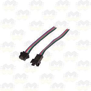 Par (macho e fêmea) de Plug Conector JST SM04 4 Pinos
