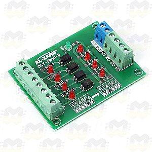 Módulo Optoacoplado 4 Bits Conversor de Sinal de Tensão CLP 24V p/ 5V