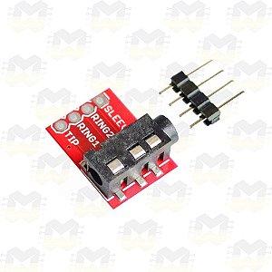 Módulo Plug Jack TRRS Fone de Ouvido 3.5mm Estéreo