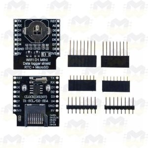 Shield RTC DS1307 Data Logger para Wemos D1 Mini ESP8266 WiFi