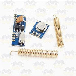 Módulo (Transmissor e Receptor) Super Heterodino RF 315MHz