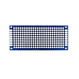 Placa de Circuito Impresso Ilhada 3X7 Azul (240 furos)