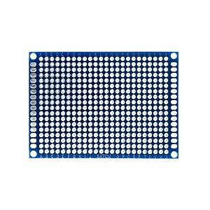 Placa de Circuito Impresso Ilhada 5X7 Azul (432 furos)