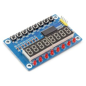 Módulo TM1638 Display 7 Segmentos 8 Dígitos com LEDs e Botões