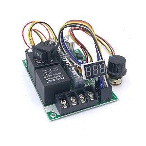 Controlador PWM 60A 10V a 55V para Velocidade de Motor DC