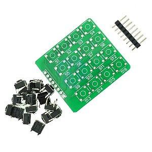 DIY Módulo Matriz 4X4 Teclado com 16 Botões