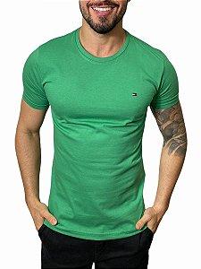 Camiseta Tommy Hilfiger Básica Verde