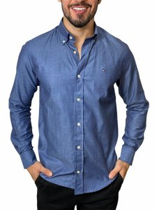 Camisa Tommy Hilfiger Azul Chumbo