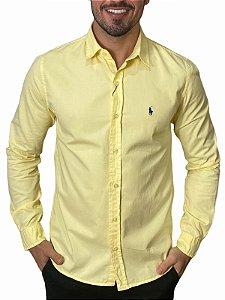 Camisa Ralph Lauren Sarja Tinturada Amarela