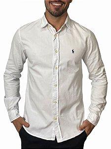 Camisa Ralph Lauren Sarja Tinturada Branca