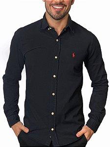 Camisa Ralph Lauren Sarja Tinturada Preta