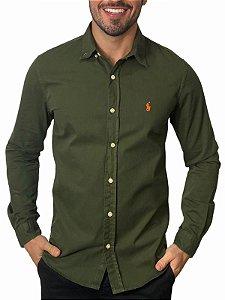 Camisa Ralph Lauren Sarja Tinturada Militar