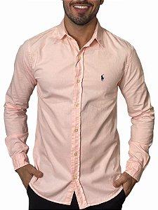 Camisa Ralph Lauren Sarja Tinturada Rosa