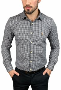 Camisa Ralph Lauren Xadrez Branca/ Preta